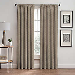 Cascade 84-Inch Rod Pocket/Back Tab Window Curtain Panel in Cafe