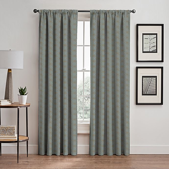 Alternate image 1 for Cascade Rod Pocket/Back Tab Window Curtain Panel