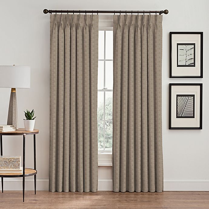 Alternate image 1 for Cascade 108-Inch Pinch Pleat Window Curtain Panel in Cafe