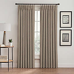 Cascade 108-Inch Pinch Pleat Window Curtain Panel in Cafe