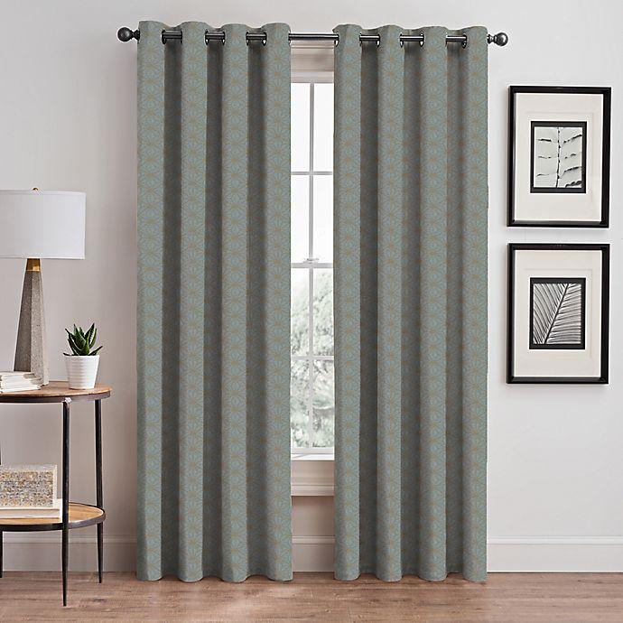 Alternate image 1 for Cascade 84-Inch Grommet Window Curtain Panel in Sky (Single)