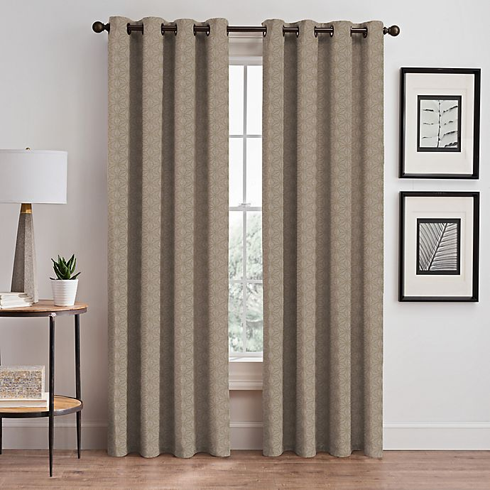 Alternate image 1 for Cascade 84-Inch Grommet Window Curtain Panel in Cafe