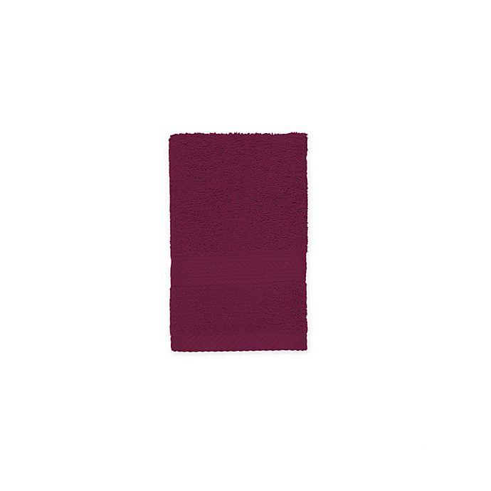 Alternate image 1 for Signature Hand Towel in Wine