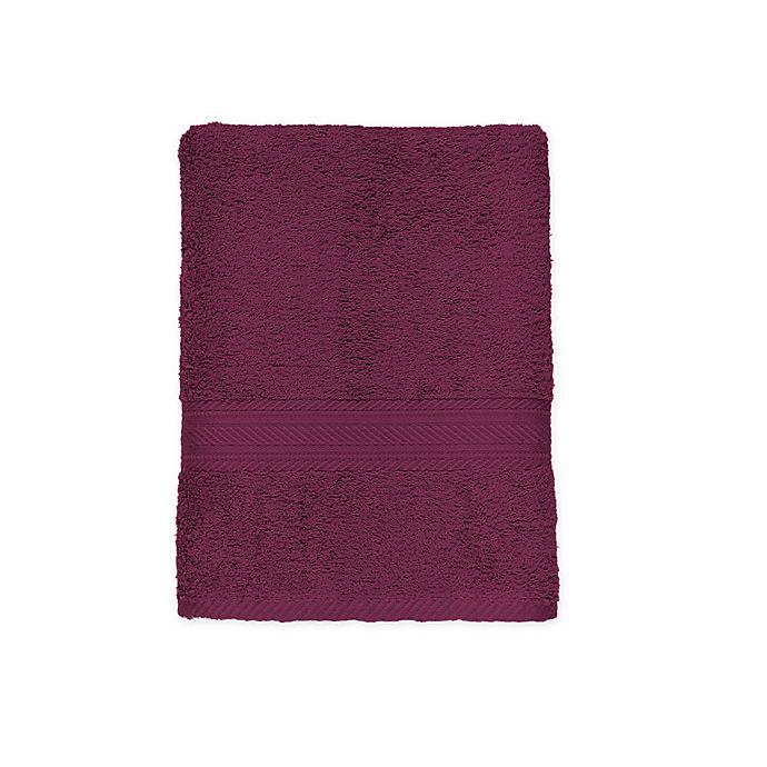 Alternate image 1 for Signature Bath Towel in Wine