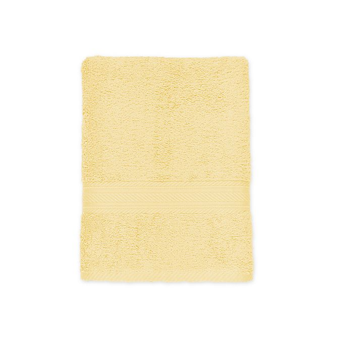 Alternate image 1 for Signature Bath Towel in Yellow