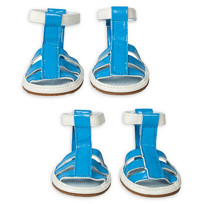 Alternate image 1 for Pet Life® Buckle Supportive Waterproof Dog Sandals (Set of 4)