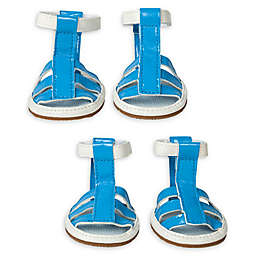 Pet Life® Buckle Supportive Waterproof Dog Sandals (Set of 4)