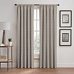 Glam 63-Inch Rod Pocket/Back Tab Room Darkening Window Curtain Panel in Gold
