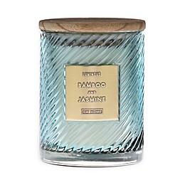 DW Home Spiral Stripe Bamboo Jasmine 17 oz. Jar Candle