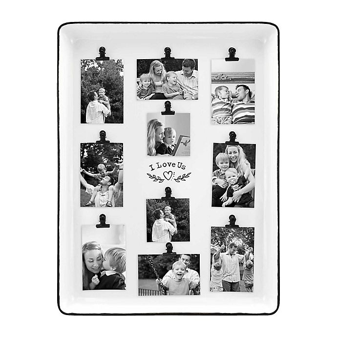 Alternate image 1 for Bee & Willow™ Home I Love Us 10-Clip Collage Picture Frame in White Enamel