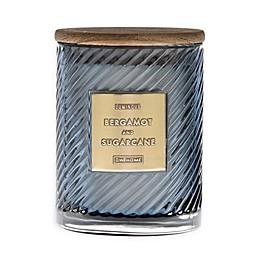 DW Home Spiral Stripe Bergamot Sugarcane 17 oz. Jar Candle