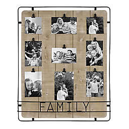 Bee & Willow™ Home Family 9-Clip Collage Picture Frame in Brown