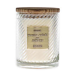 Vanilla Brûlée & Almond 17 oz. Scented Spiral Candle in White