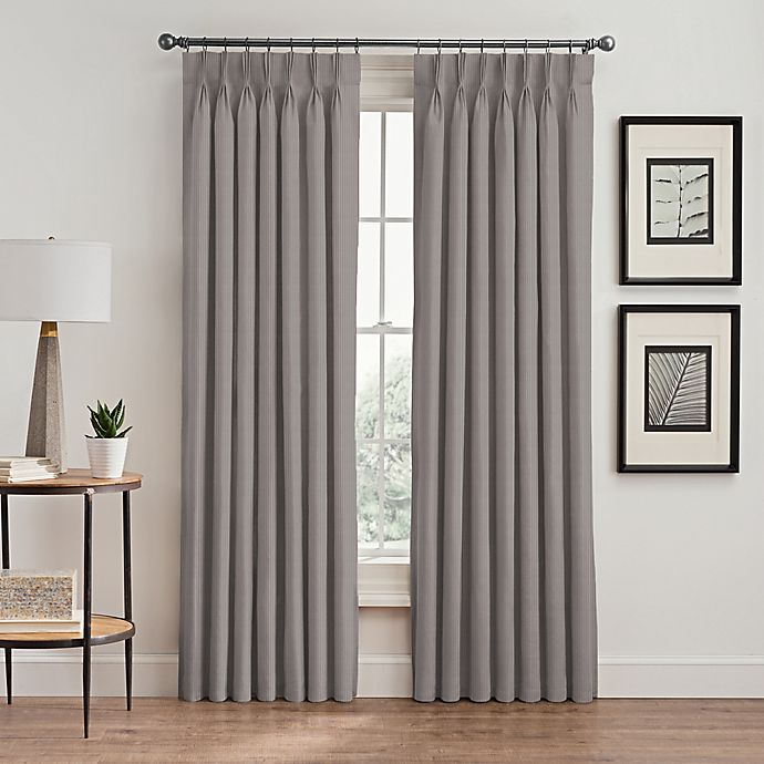 Alternate image 1 for Vertical Pleat Pinch Pleat Room-Darkening Window Curtain Panel