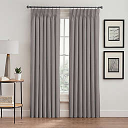 Vertical Pleat 63-Inch Pinch Pleat Room-Darkening Window Curtain Panel in Platinum
