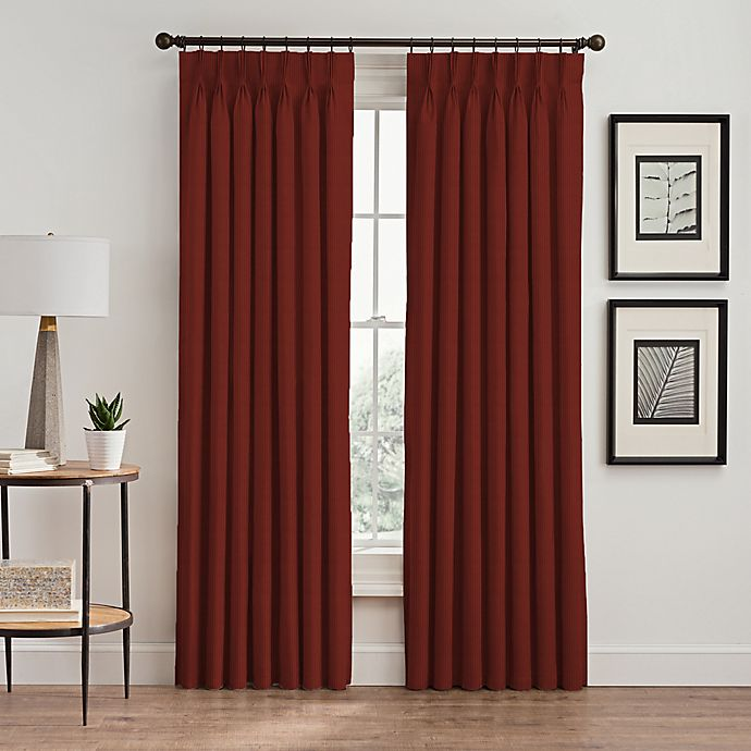 Alternate image 1 for Vertical Pleat 63-Inch Pinch Pleat Room-Darkening Window Curtain Panel in Cayenne