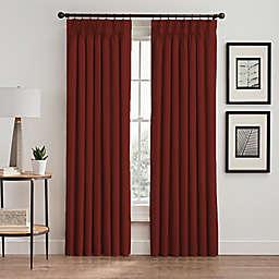 Vertical Pleat 108-Inch Pinch Pleat Room-Darkening Window Curtain Panel in Cayenne