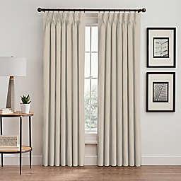 Vertical Pleat 84-Inch Pinch Pleat Room-Darkening Window Curtain Panel in Pearl