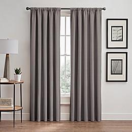 Vertical Pleat Rod Pocket/Back Tab Room-Darkening Window Curtain Panel