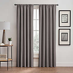 Vertical Pleat 108-Inch Rod Pocket/Back Tab Room-Darkening Window Curtain Panel in Platinum