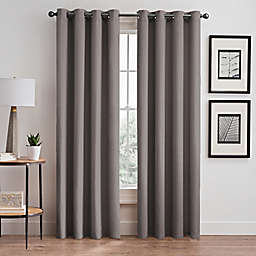 Vertical Pleat 84-Inch Grommet Room-Darkening Window Curtain Panel in Platinum
