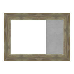 Amanti Art Alexandria Greywash 32.88-Inch x 23.88-Inch Framed Dry Erase and Magnetic Combo Board