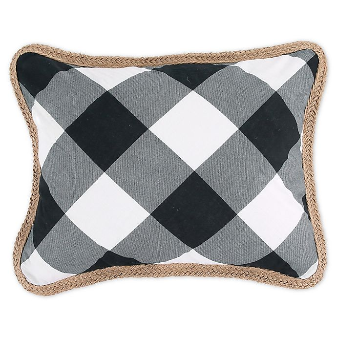 Alternate image 1 for Bee & Willow™ Home Sawyer Oblong Throw Pillow in Black