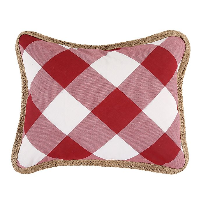 Alternate image 1 for Bee & Willow™ Home Sawyer Oblong Throw Pillow in Red