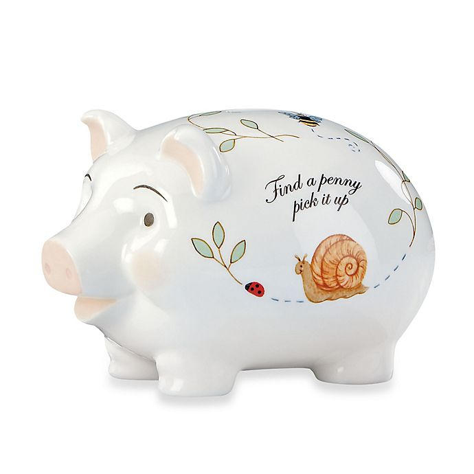 Alternate image 1 for Lenox® Butterfly Meadow® Baby Piggy Bank