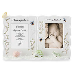 Lenox® Butterfly Meadow® 2-Photo 3-1/4 -Inch x 4-1/2 -Inch Baby Photo Frame