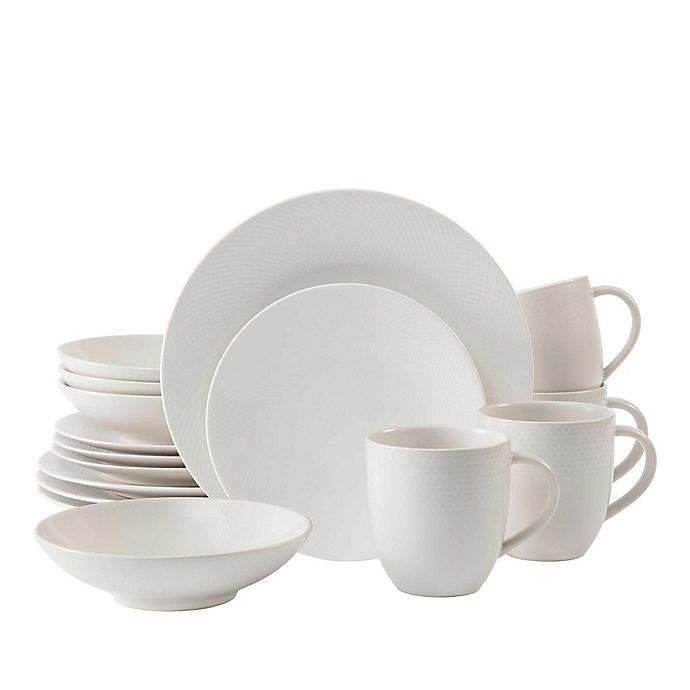 Alternate image 1 for Neil Lane™ by Fortessa® Trilliant 16-Piece Dinnerware Set in Ivory