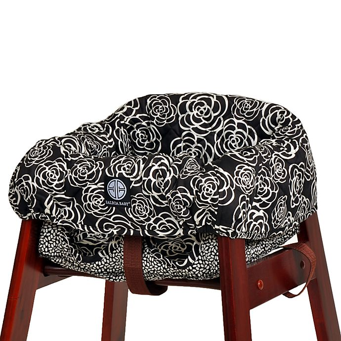 Excellent Balboa Baby High Chair Cover In Black Camellia Bed Bath Spiritservingveterans Wood Chair Design Ideas Spiritservingveteransorg