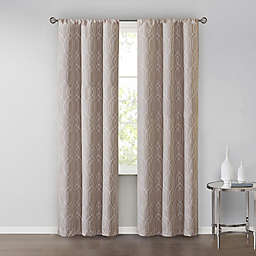 SALT™Clancy 2-Pack 84-Inch Rod Pocket Window Curtain Panels in Taupe