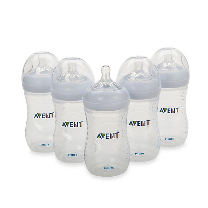 Alternate image 1 for Philips Avent 5-Pack 9 oz. Natural Bottles