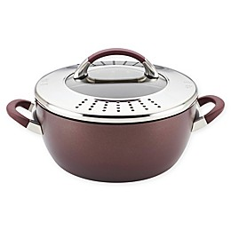 Circulon® Symmetry™ 5.5 qt. Casserole with Locking Straining Lid in Chocolate
