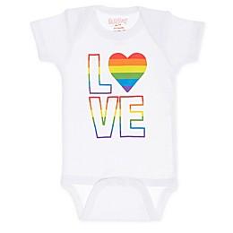 Sara Kety Rainbow Love Bodysuit in White