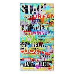 Dream Big 36-Inch x 72-Inch Glass Wall Art