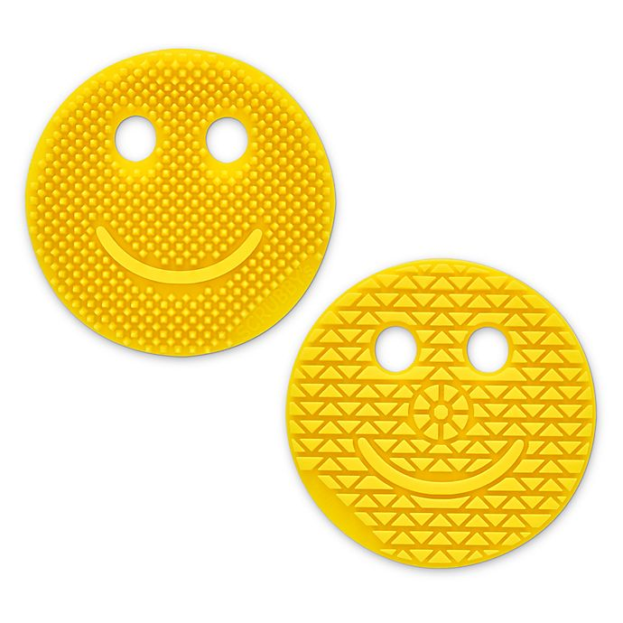 Alternate image 1 for Scrubby's™ Smile Silicone Cleaning Brush in Yellow