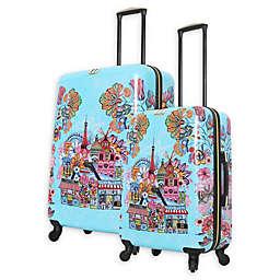 Halina Car Pintos Oh Lala Hardside Spinner Checked Luggage