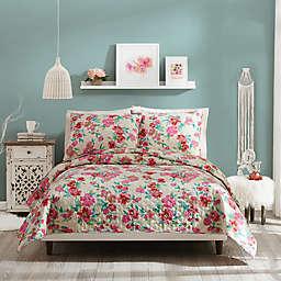 Jessica Simpson Floral Trellis Reversible Quilt