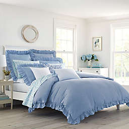 Laura Ashley® Adley Duvet Set in Blue