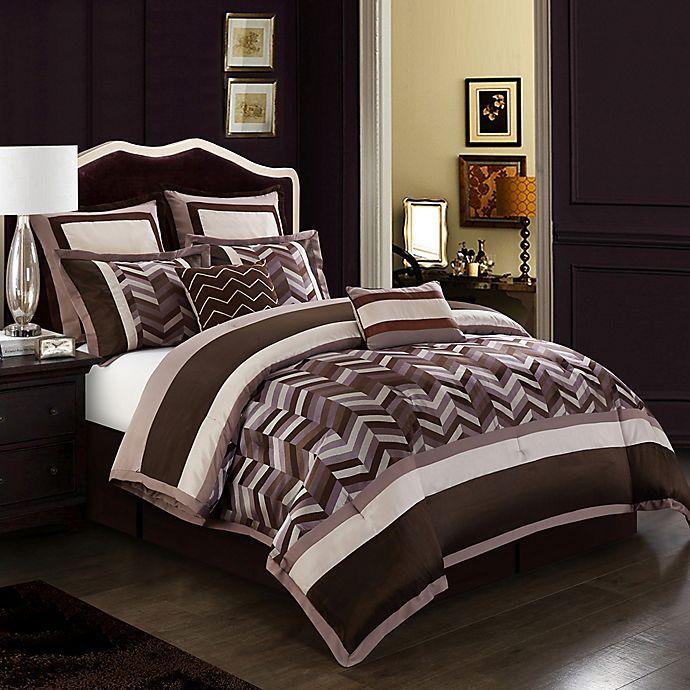 Alternate image 1 for Nanshing Jonathan 8-Piece Reversible Comforter Set