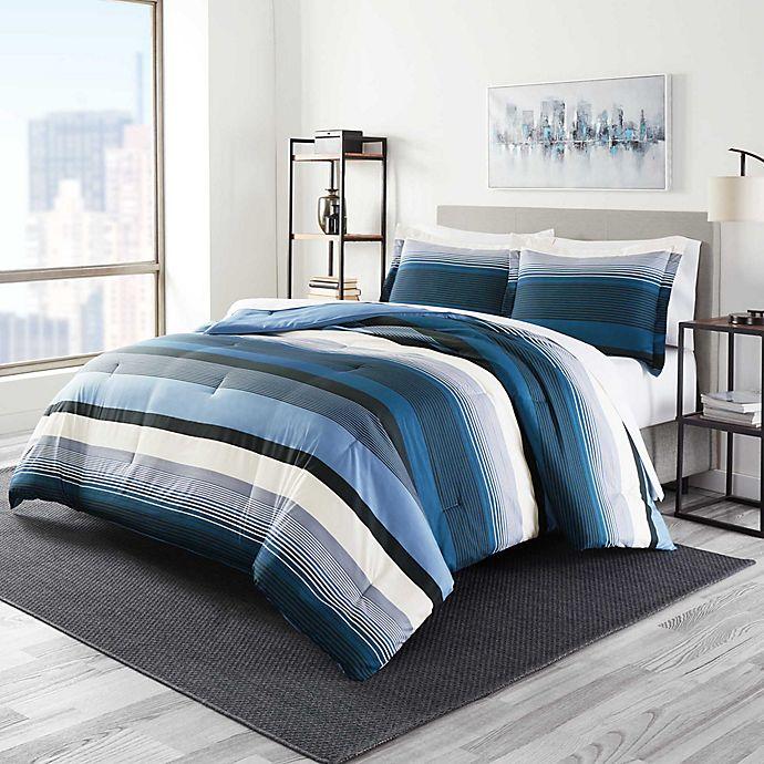 Alternate image 1 for Perry Ellis® Taylor King Comforter Set in Denim