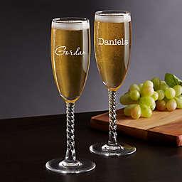 Classic Celebrations Champagne Twisted Stem Glass