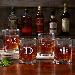 Classic Celebrations Engraved Old Fashioned Whiskey Glass