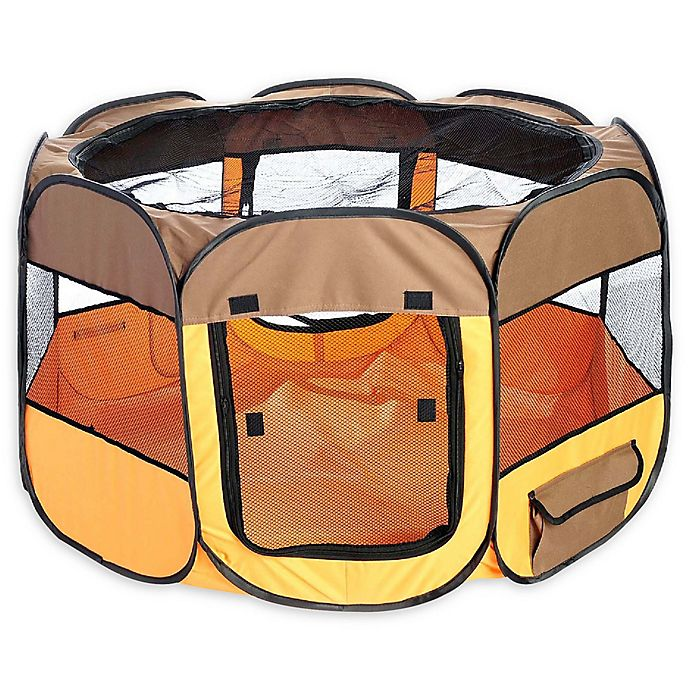 Alternate image 1 for All-Terrain Collapsible Travel Pet Playpen