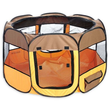 All Terrain Collapsible Travel Pet Playpen Bed Bath Amp Beyond