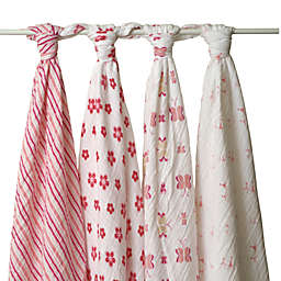 aden + anais® Classic 4-Pack Muslin Swaddles in Princess Posie