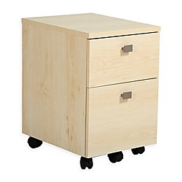 South Shore Interface 2-Drawer Mobile File Cabinet in Maple