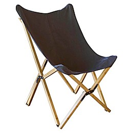 Amerihome Canvas and Bamboo Butterfly Lounge Chair